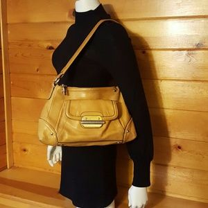 B. Makowsky Handbags - B. Makowsky Leather Durby Hobo Bag