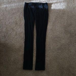 Black maternity leggings, XS