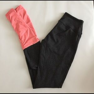 Beyond Yoga Pants - Beyond Yoga grey and pink leggings XS