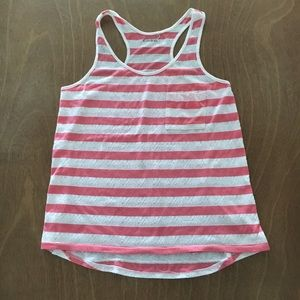 Caslon coral and ivory striped tank top $8