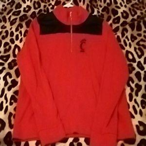 Sweaters - Sold!!!Pink Cincinnati Bearcats half zip.