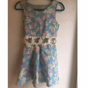 DOLLSKILL NEON FLORAL DRESS