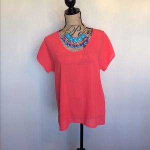 Fun & Flirt Tops - Fun & Flirt orange blouse w/ back zip