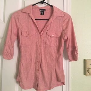 Wet Seal Tops - Pink button up