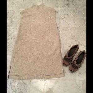 Vince Dresses & Skirts - VINCE Oatmeal Sleeveless Sweater Dress