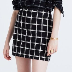 Madewell Dresses & Skirts - Madewell double windowpane mini skirt