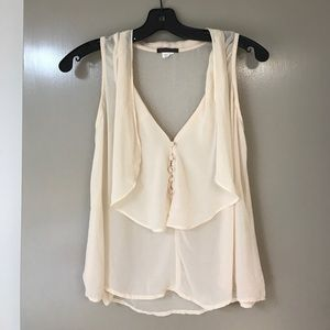 Fire Los Angeles Tops - Cream Button Flowy Top 💋