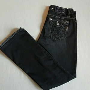 MEK Denim - Mek Oaxaca Boot Cut Black Low Rise Jeans SZ 30