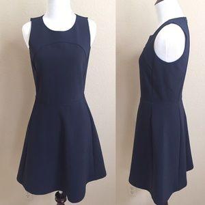 Madewell Dresses & Skirts - Madewell sleeveless navy fit & flare dress, size 2