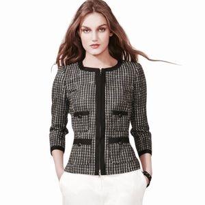 Rachel Zoe Jackets & Blazers - Rachel Zoe Hepburn Tweed Zip Up Jacket