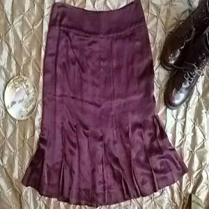 theory Dresses & Skirts - Theory Burgundy Satin Pleated Skirt!