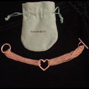 Tiffany multi strand heart bracelet.
