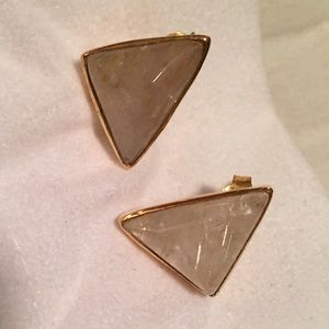 Margaret Elizabeth Jewelry - Margaret Elizabeth Gold Rutilated Topaz Triangle