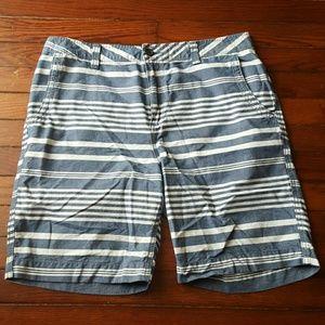 21men Other - NWOT Blue & White Striped Summer Cotton Shorts
