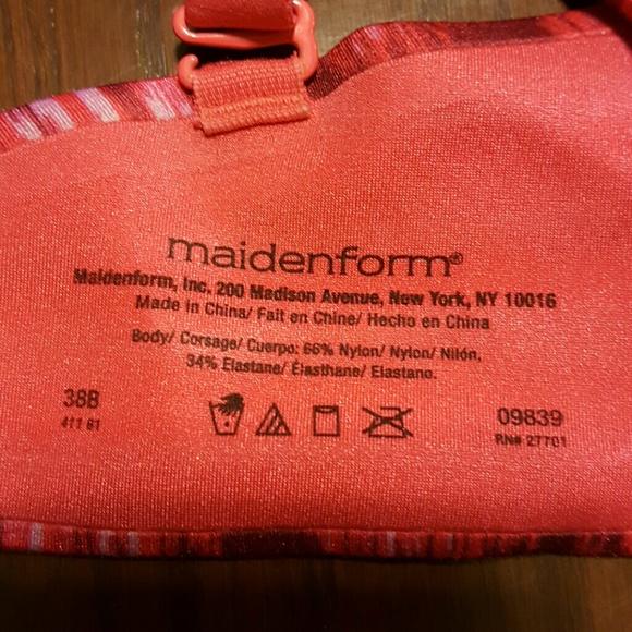 67% off Maidenform Other - Maidenform 09839 pink/red bra underwire ...