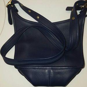 DISCONTINUED!! Coach Navy leather shoulder bag