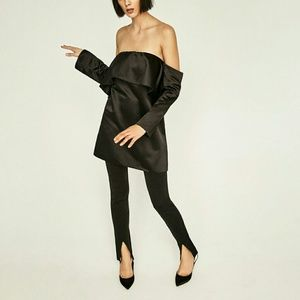 Zara Dresses & Skirts - ZARA OFF THE SHOULDER DRESS TOP