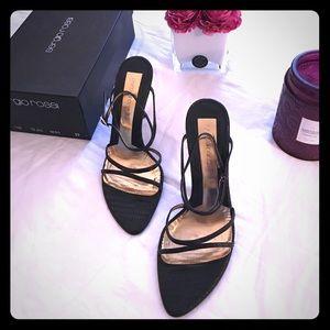 Sergio Rossi Shoes - Sergio Rossi lizard ankle strap heel