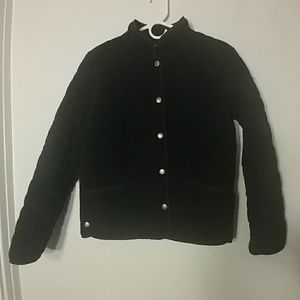 Charter Club black quilted jacket