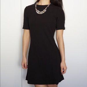 American Apparel Black Short-Sleeve T-Shirt Dress