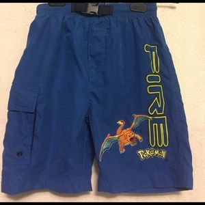 Nintendo Other - RARE: Blue Pokémon Swim Shorts with Charizard