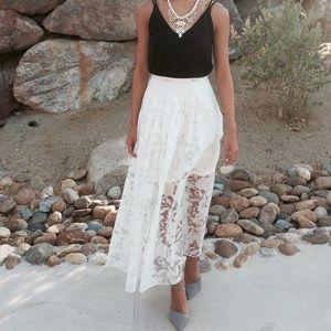 NWT Anthropologie Stella Jamie Burnout Maxi Skirt