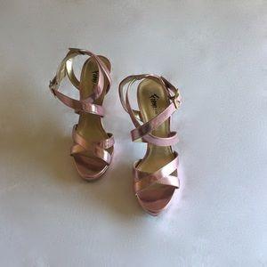 FIONI Clothing Shoes - Pink high-heel shoe