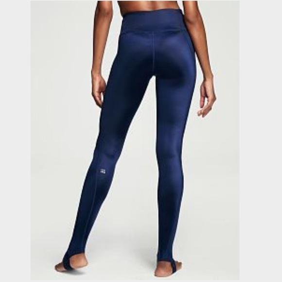 4708df32a20075 Victoria's Secret Pants | Vsx Navy Blue High Waist Workout Stirrup ...