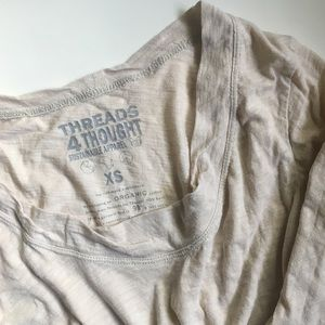 Threads 4 Thought Tops - Ivory Long Sleeve Tee