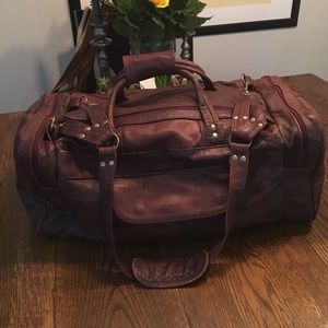 Other - Thick leather travel duffle bag