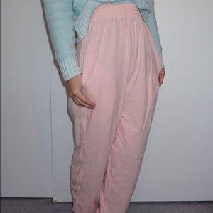 American Apparel Pink High-Waist Pants