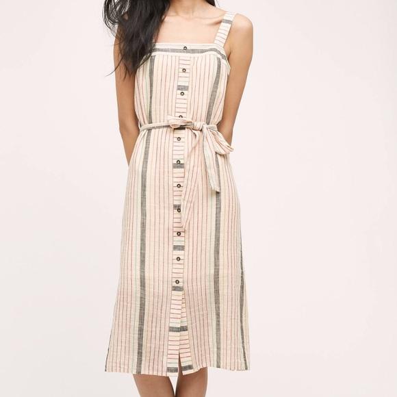 Anthropologie Striped Linen Dress