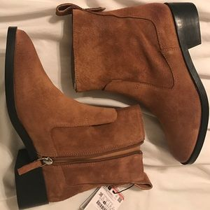 Zara leather TRF boots size 7.5/38