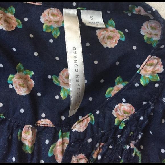 LC Lauren Conrad Tops - cute polka dotted floral shirt lauren conrad