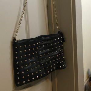Handbags - Black leather studded bag
