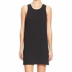 Black suede shift dress