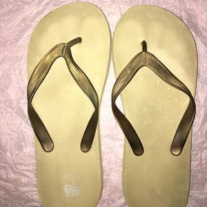 Old Navy Gold Foam Flip Flops