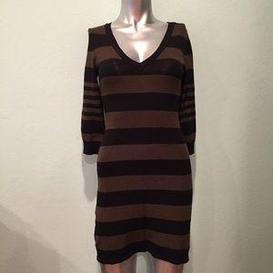 H&M striped sweater dress