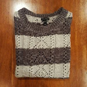 FANG Sweaters - Gray striped sweater