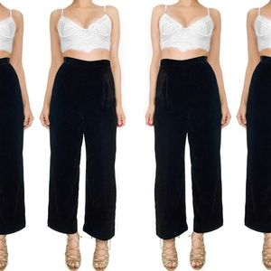 Kay Unger Pants - Kay unger velvet cropped high waisted pants