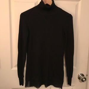 Simply Vera Wang thin black turtle neck sweater XS