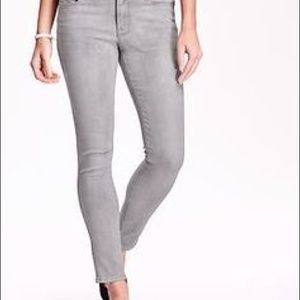 Old Navy Denim - Old Navy Gray Rock Star Mid Rise Jeans