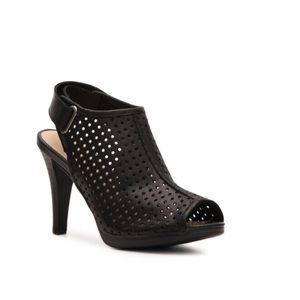 Audrey Brooke Shoes - Audrey Brooke Leather Perforated Peep Toe Pumps