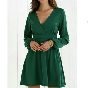 Dresses & Skirts - Green Fit and Flare Dress