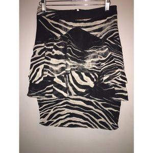 ZARA Zebra Skirt Sz XS