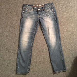 Express Denim - Express cropped Jean leggings Low rise size 6