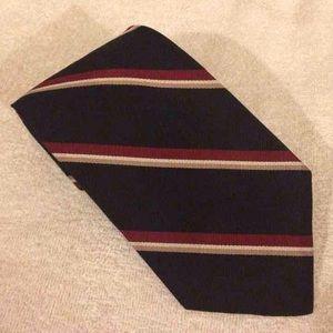 Hardy Amies Other - Hardy Amies Black w/ Red & Tan Stripe Tie
