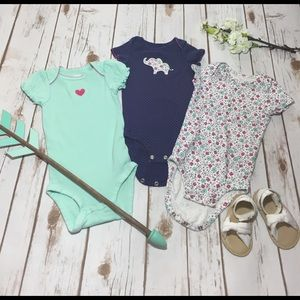 Carter's Other - Child of Mine 3pc matching onesies 6-12mo