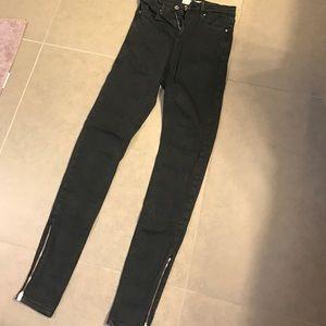 Denim - Black topshop skinny jeans
