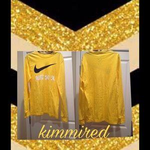 ⤵️Mens Sunshine Yellow NiKe 'Just Do It' Shirt ~ S